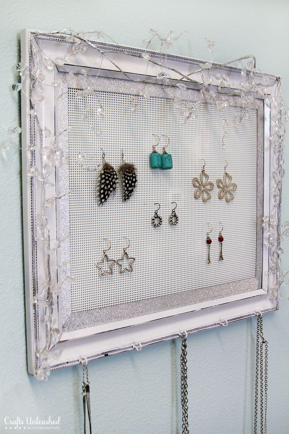 Diy Jewelry Holder Ideas, Display, Storage, Organizer, Pendants, Wire, Beads