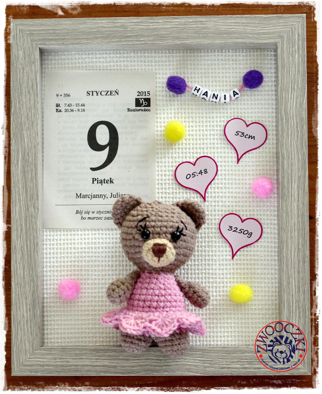 Metryczka Z Data Urodzenia Dziecka Kartka Z Kalendarza Dzieci