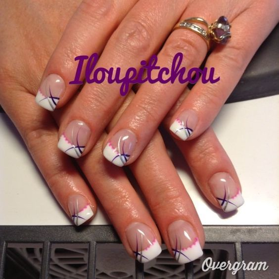 image zaza d co d 39 ongle en gel french