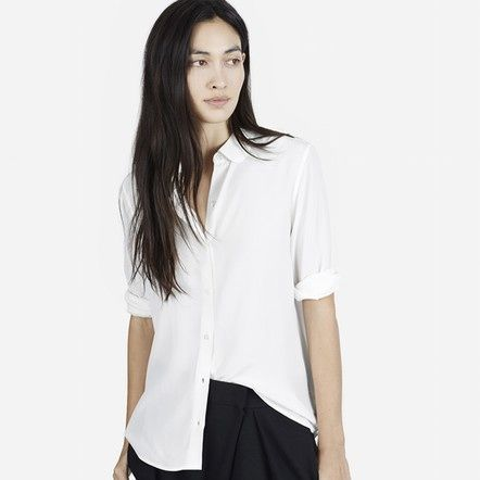 The perfect white silk shirt from Everlane. http://m0ve.co/1wU1akA