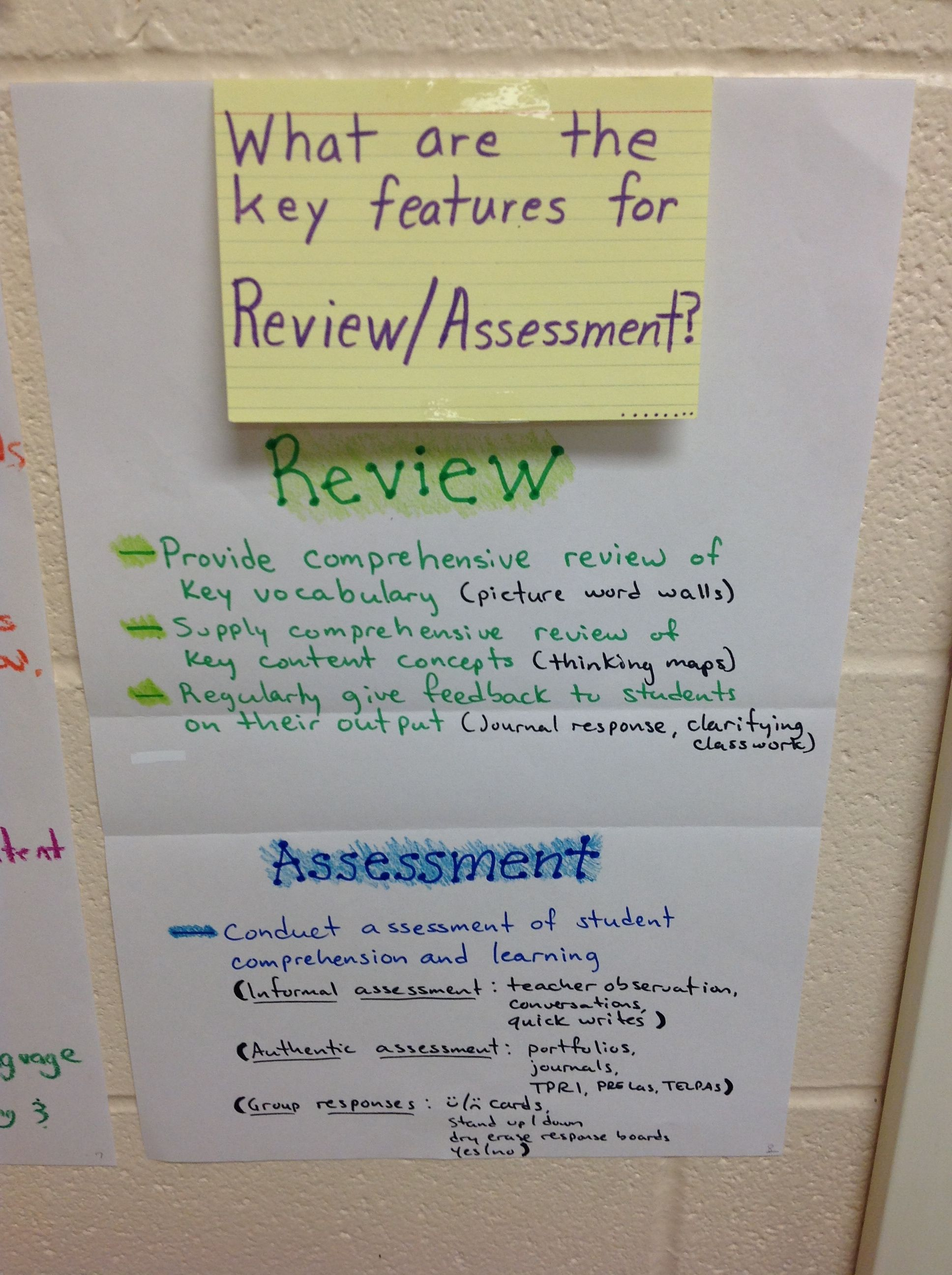 Siop Review Assessment