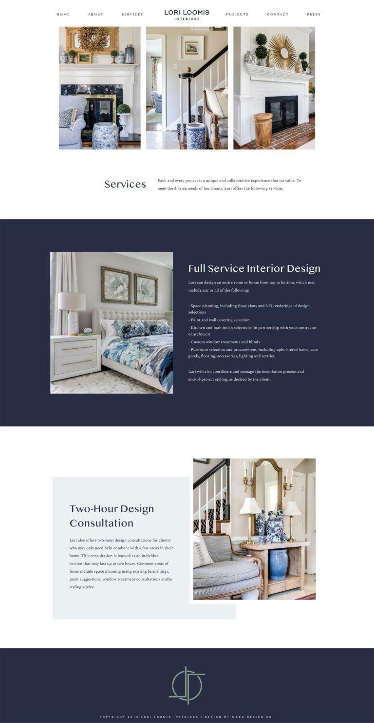 Lori Loomis Interiors Best Interior Design Websites Mara Best Interior Design Websites Interior Design Website Business Web Design