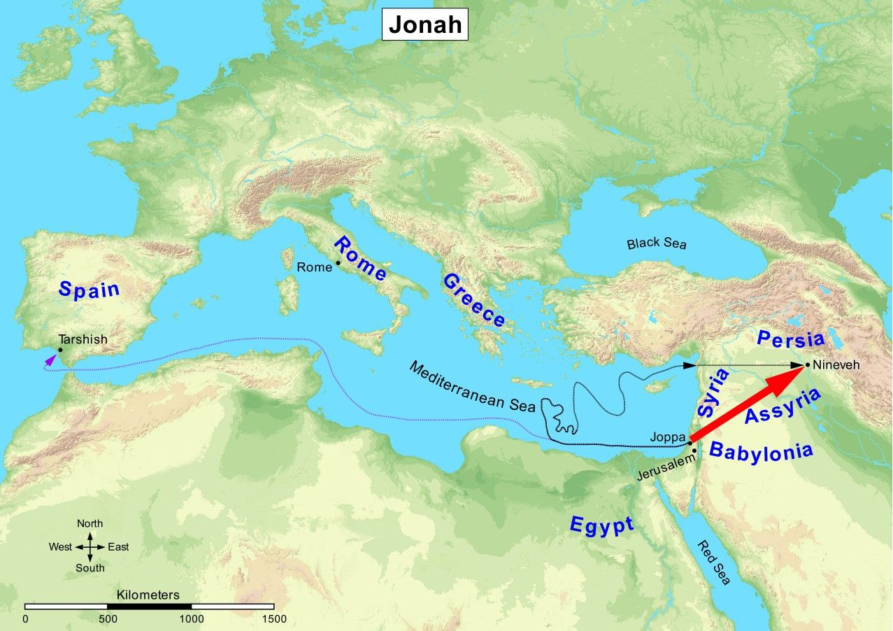 Image result for map jonah   Who is God that I should Believe in Him ...