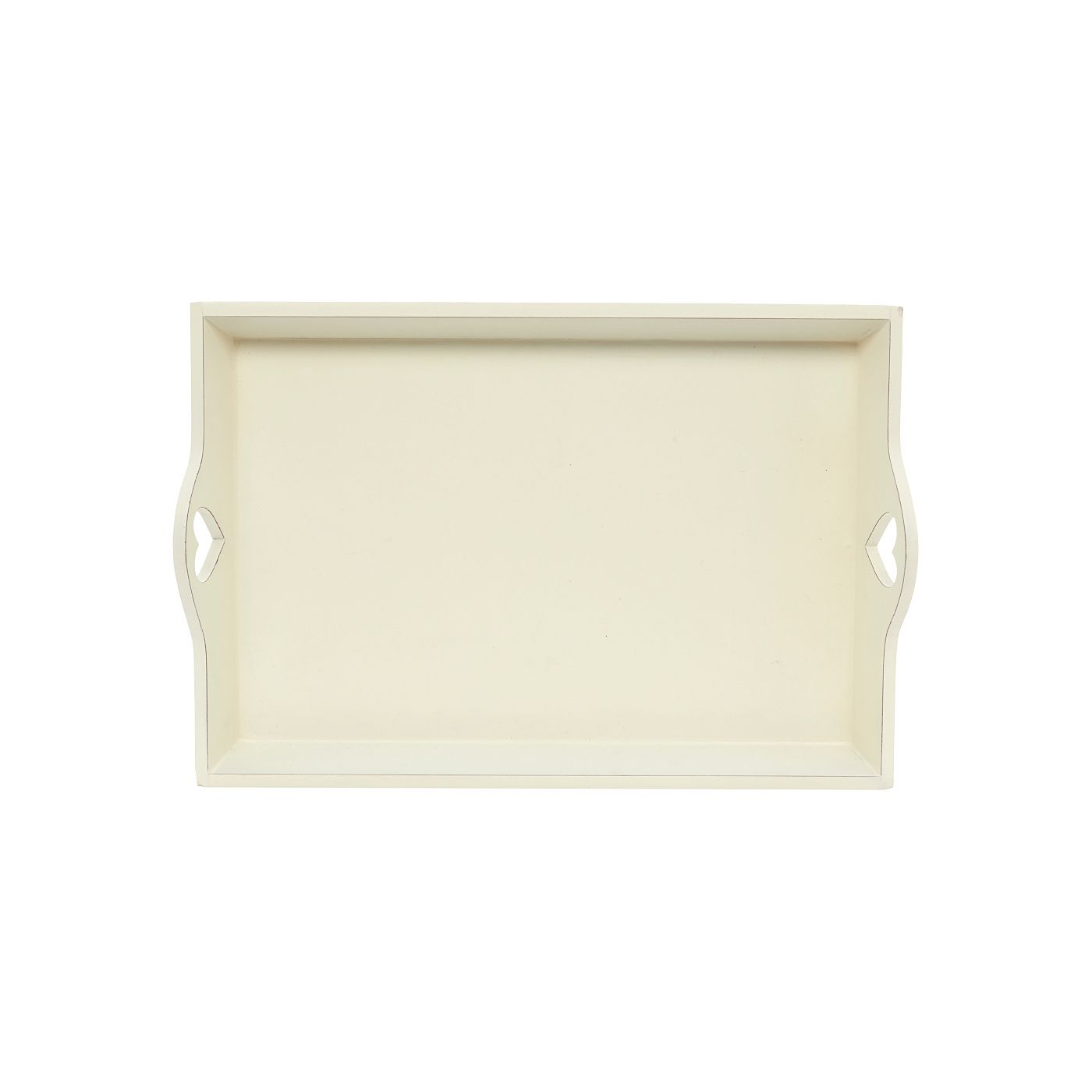 George Home Wooden Tray With Heart Handles | Serving Trays | ASDA ...