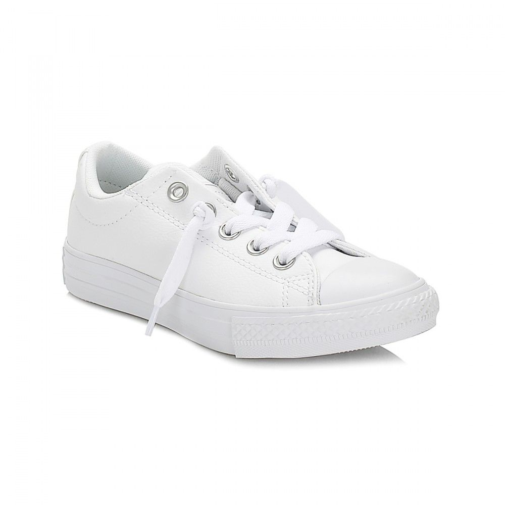191dea0d6eb2 Converse Junior White Street Slip On Trainers