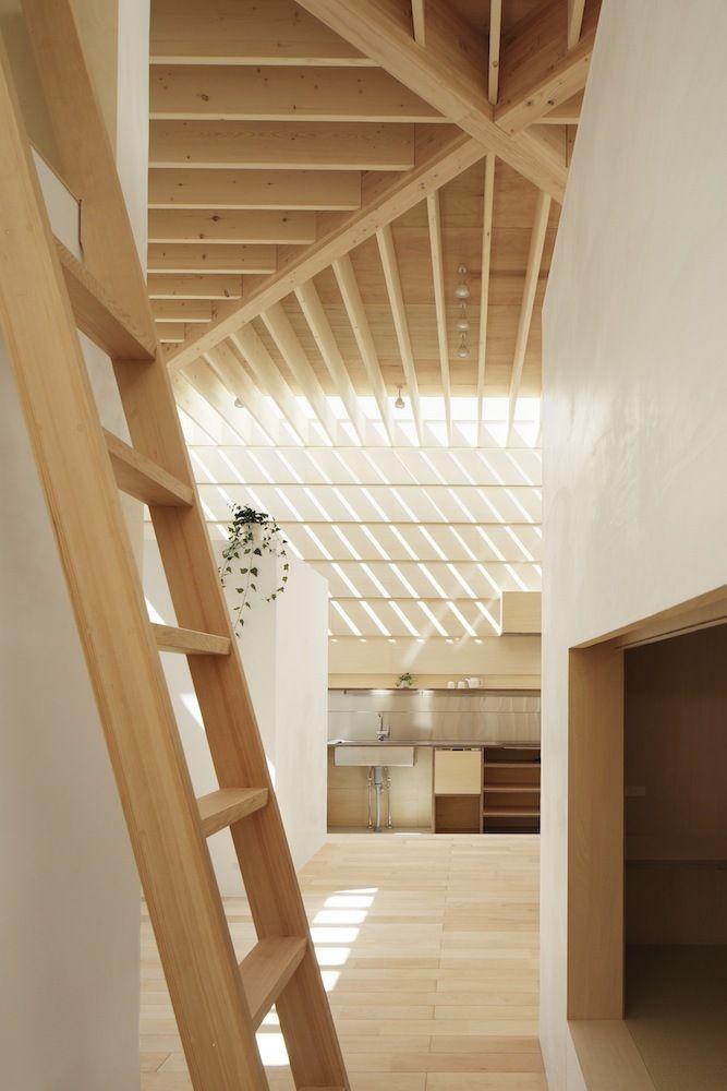 Ladder Uniformly Lit Living Environment The Light Walls House in
