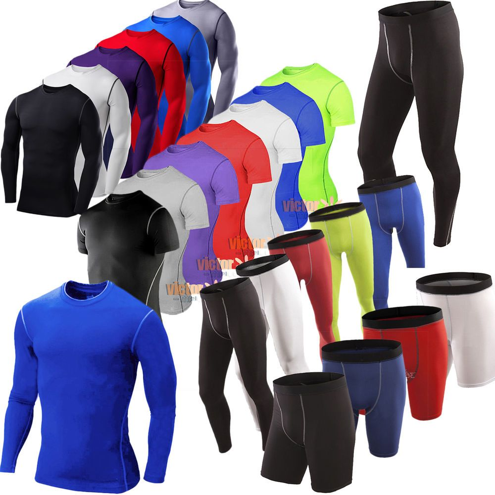 13faa74e405 Mens Under Armour Base Layer Tops Tight Thermal Skinny Fit Shorts Pants  Trousers
