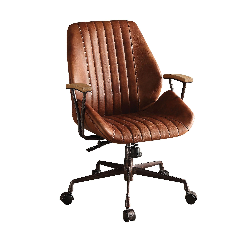 Acme Hamilton Executive Office Chair Cocoa Top Grain Leather In