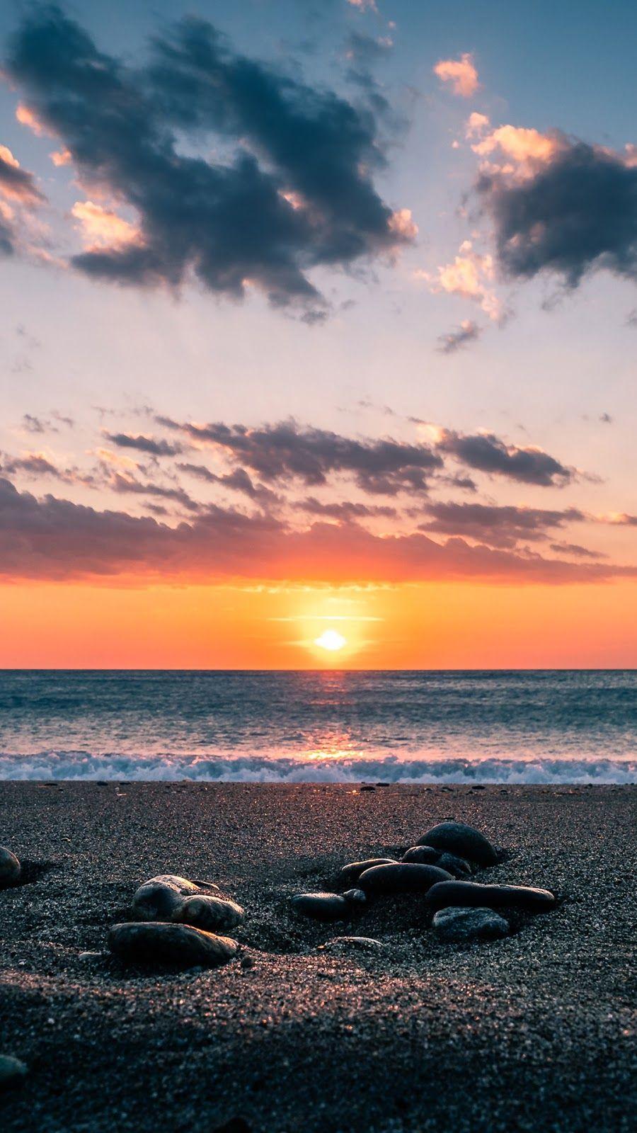 Calm Day Scenic Wallpaper Beach Sunset Wallpaper