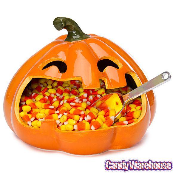 Halloween Large Mouth Pumpkin Candy Dish FUN PARTY IDEAS - bulk halloween decorations