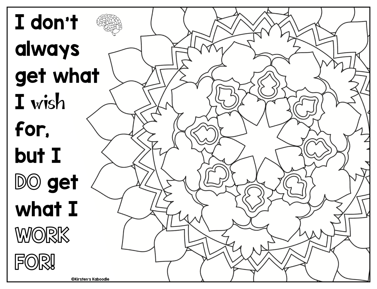 Growth Mindset Coloring Pages Preschoolcoloringpages