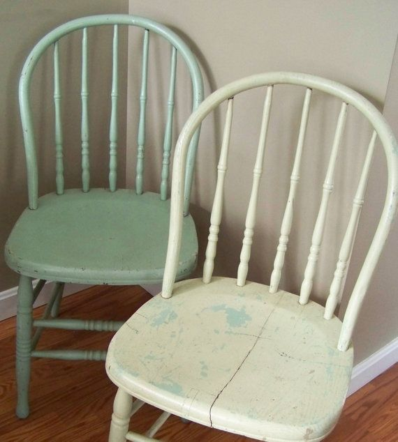 Reserved Vintage Wooden Bentwood Chairs In Shabby Chic Aqua Retro Cottage Style Furniture Antique