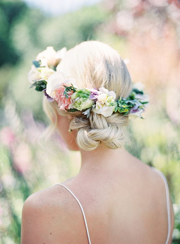 Garden Inspiration By Elan Klein Magnolia Rouge Flower Crown Hairstyle Floral Crown Crown Hairstyles