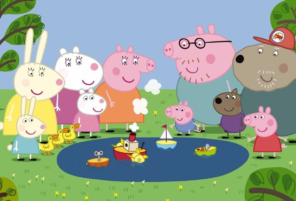 Peppa Pig Family And Friends Wallpaper Wallpaper With Images