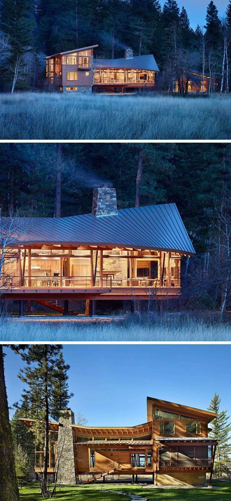 20 Awesome Examples Of Pacific Northwest Architecture Rustic Houses Exterior Architecture Roof Architecture