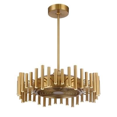 Eurofase 30 In Brushed Copper Downrod Mount Indoor Residential Ceiling Fan Ceiling Fan With Light Ceiling Fan Fan Light