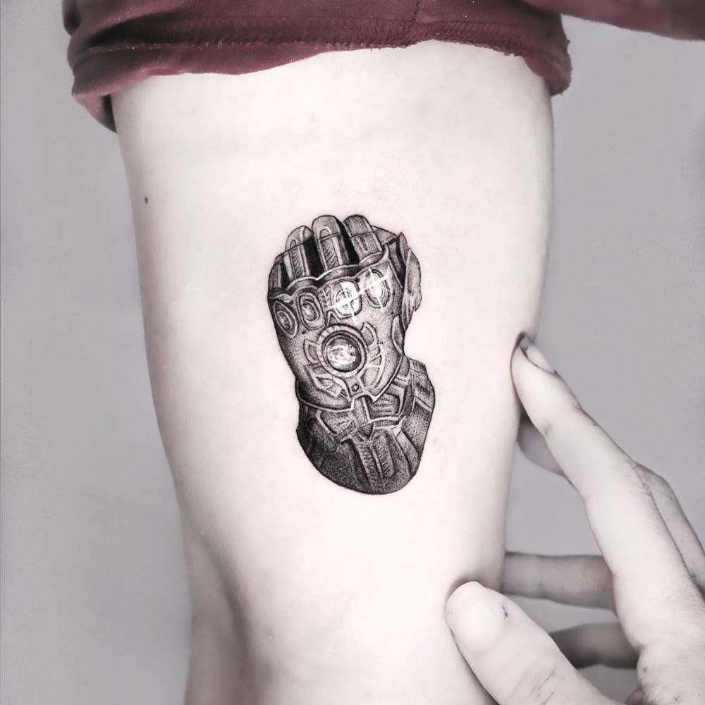 "Inkfinity Tattoo Gauntlet Infinity War Marvel Thanos Ironman Vinyl Sticker 2"""