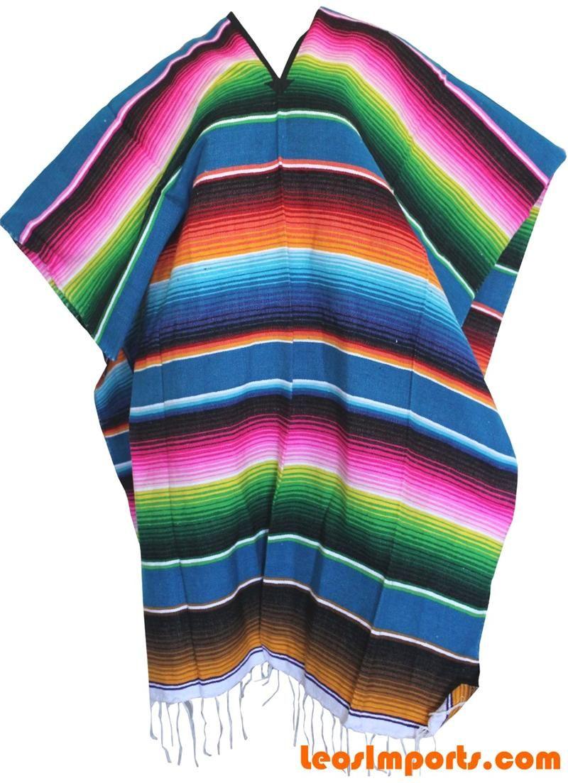Mexican Sarape Poncho Pancho | MEXICAN FASHION SHOPPING ...