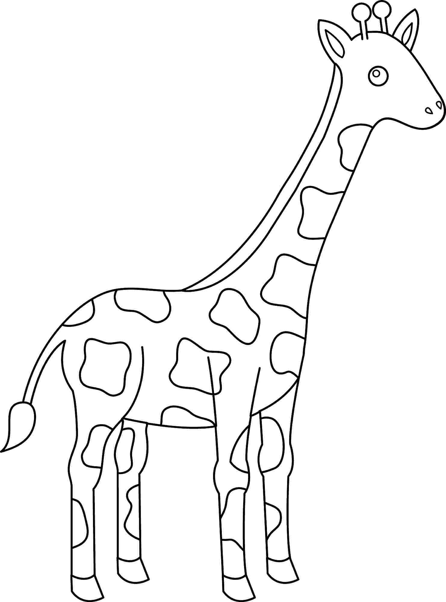 Cute Giraffe Coloring Pages Pdf Printable Free Coloring Sheets