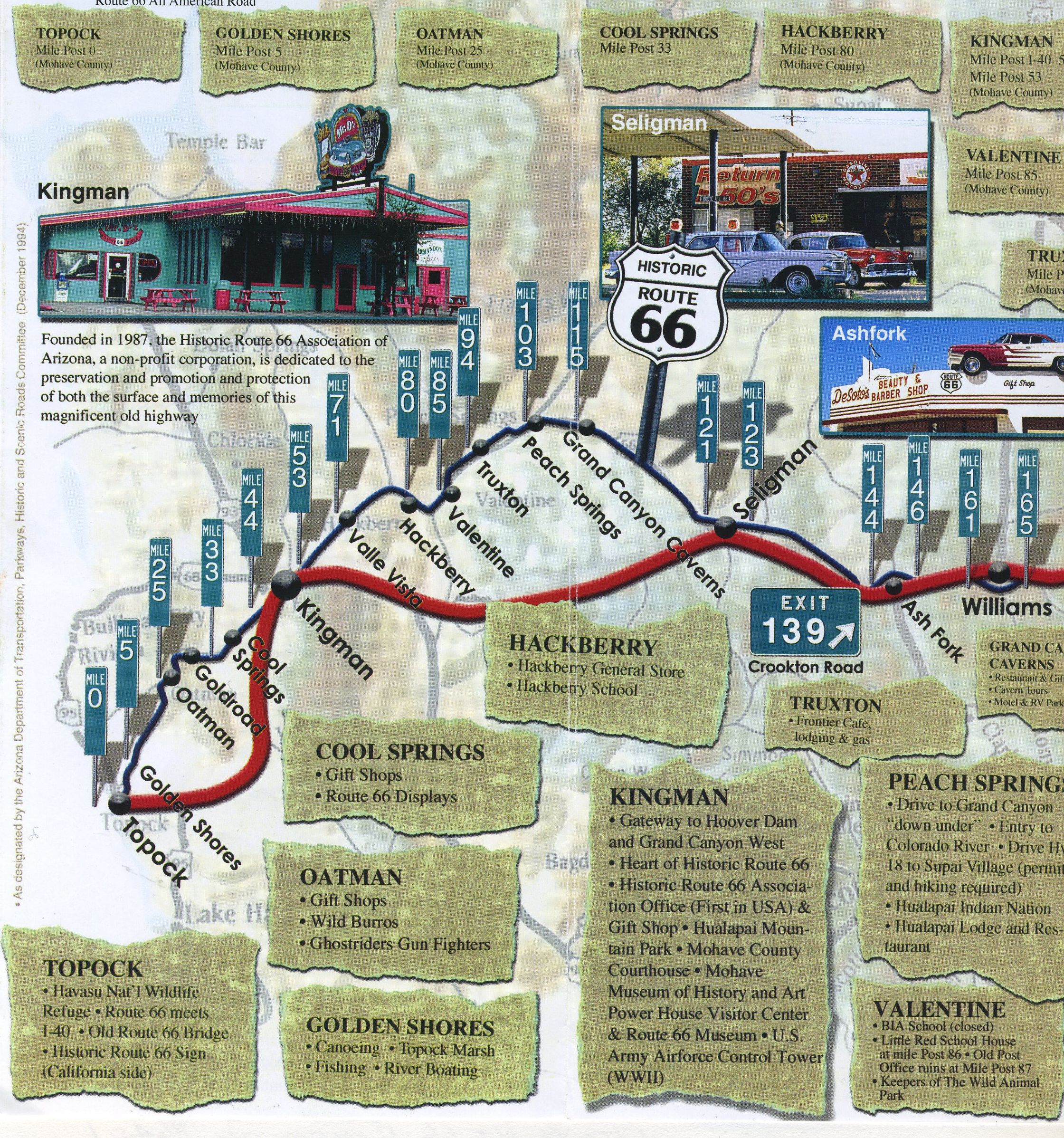 Map Of Old Route 66 Arizona.Route 66 Az Route 66 2017 Route 66 Map Historic Route 66 Map
