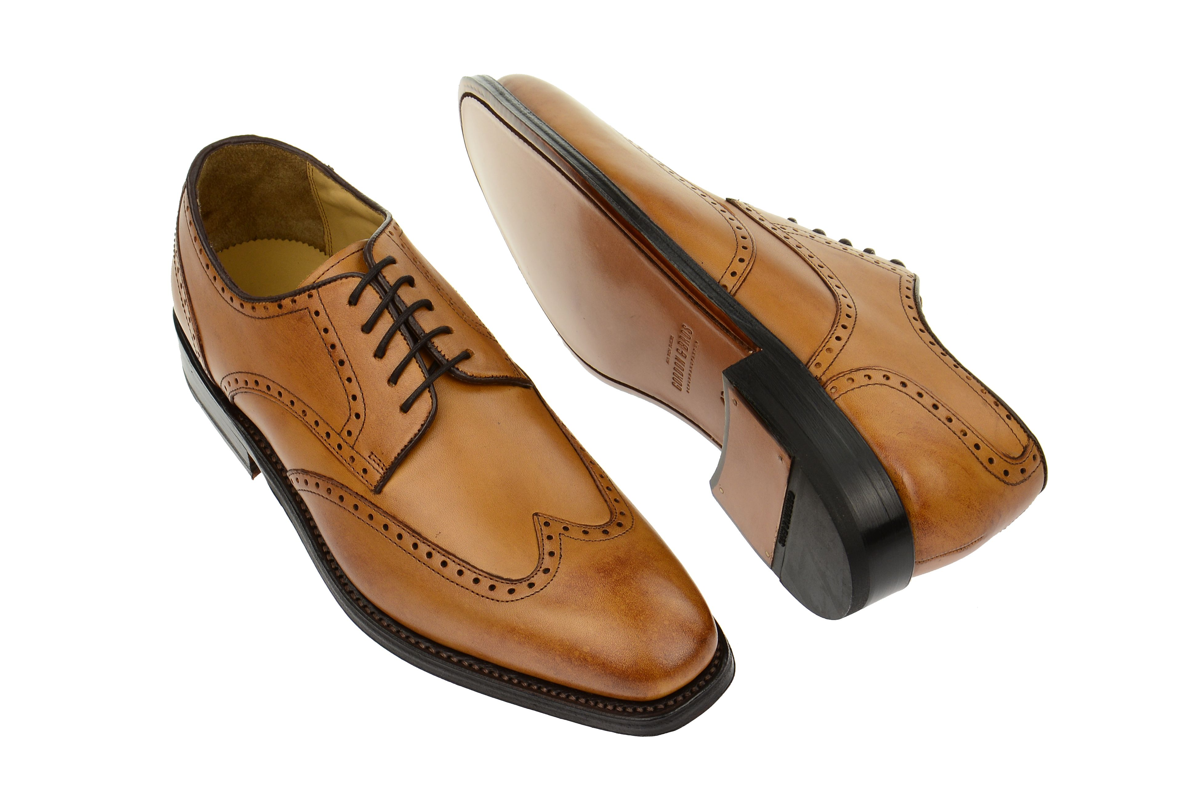 Schuhe HAVRET braun Herrenschuhe rahmengenähte Schuhe 3514-B tan Gordon /& Bros