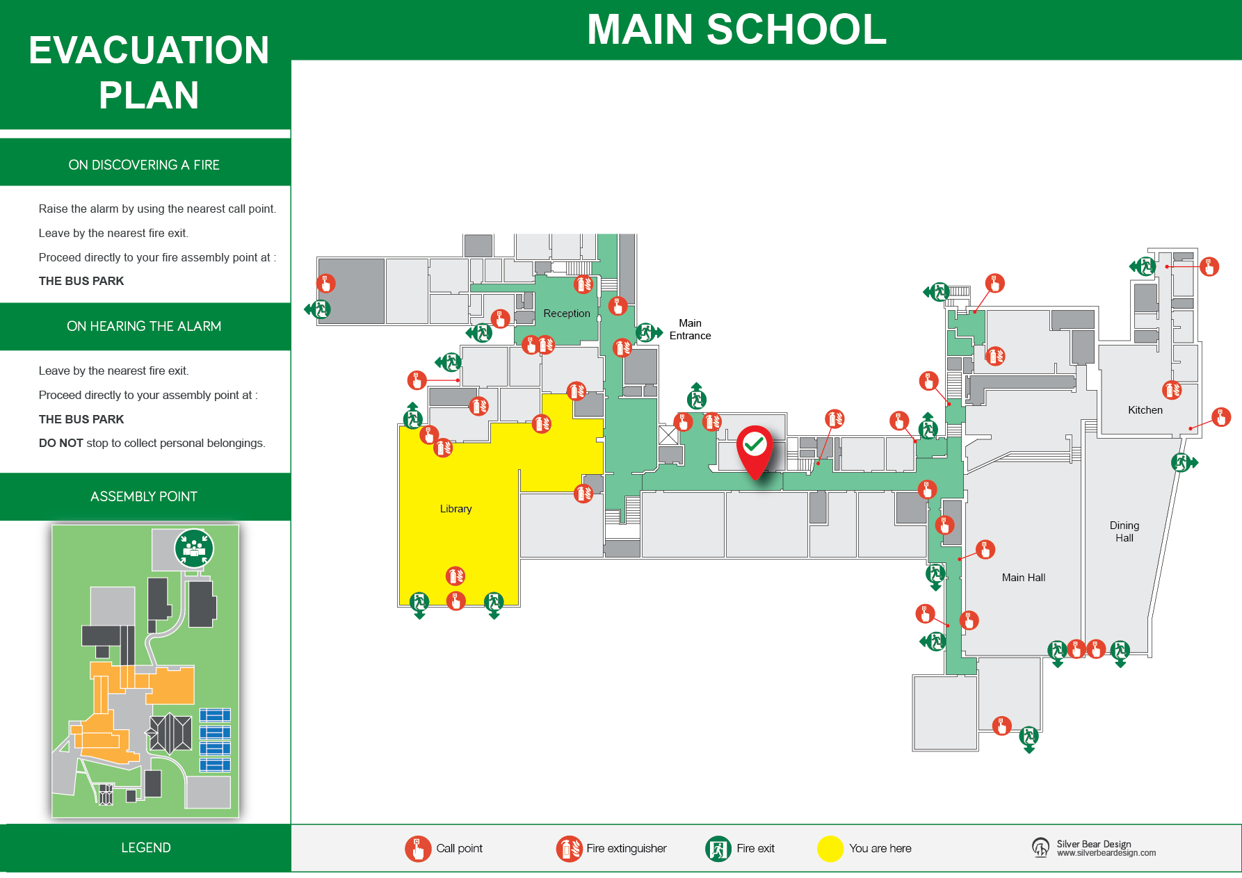 Fire Evacuation Plans for Schools, Colleges and