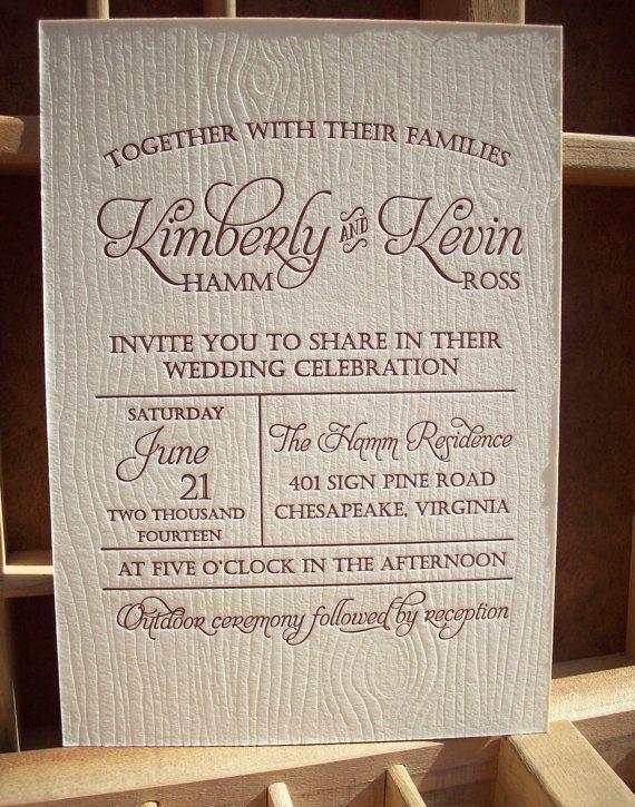 Wood Grain Wedding Invitations Google Search
