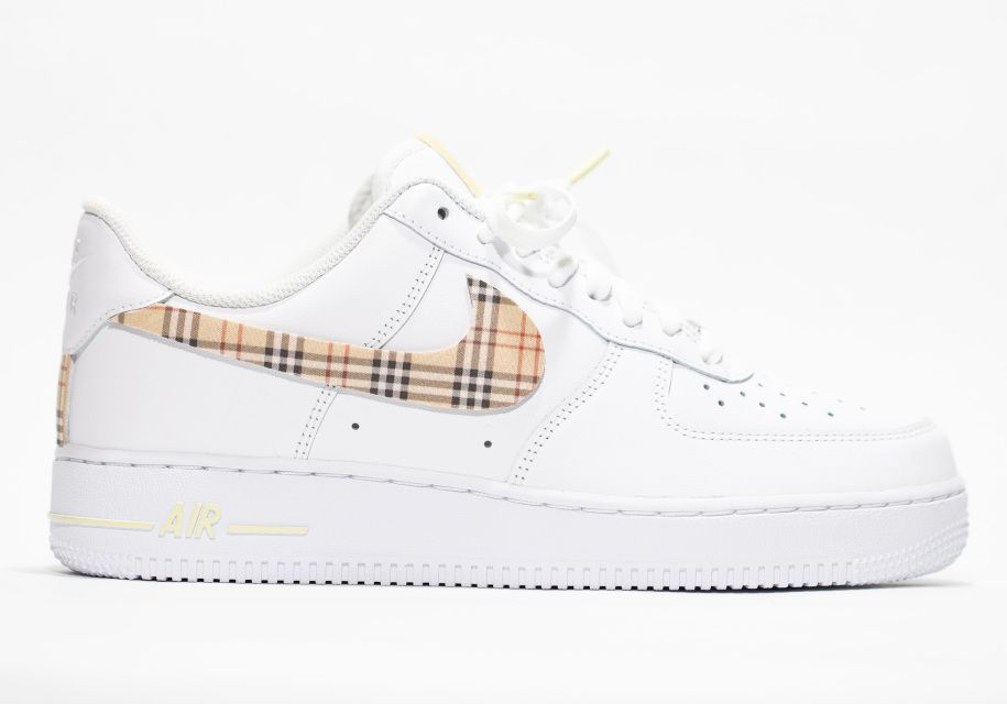 Nike Air Force 1 Custom 'Plaid' Old English Custom in 2020