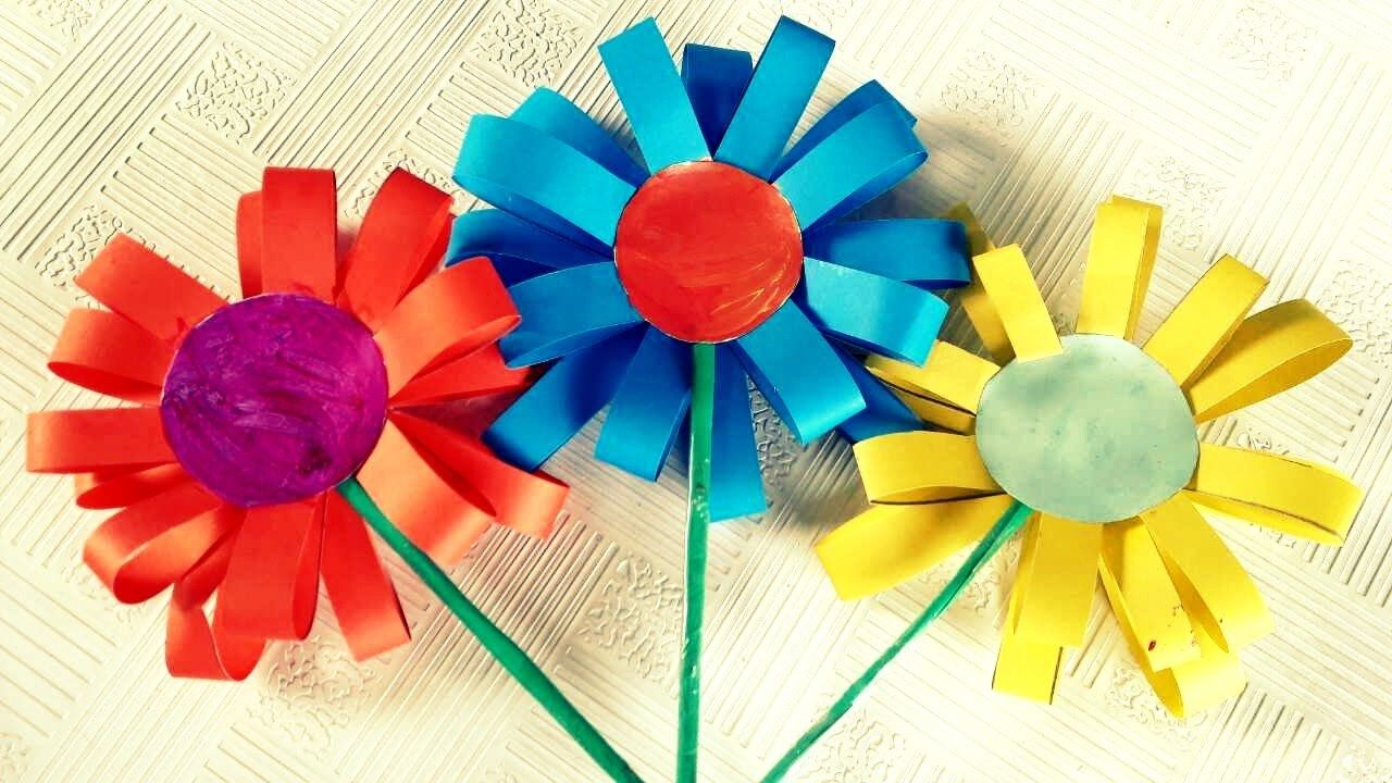 How To Make Paper Flowers For Kids Retouch Paper Crafts