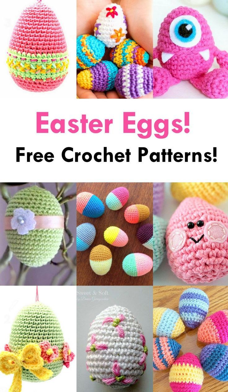 Free Easter Egg Crochet Pattern Roundup! - AmVaBe