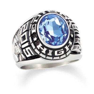 Zales Ladies Siladium Tempo High School Class Ring by ArtCarved (1 Stone) x2cJn2MZg