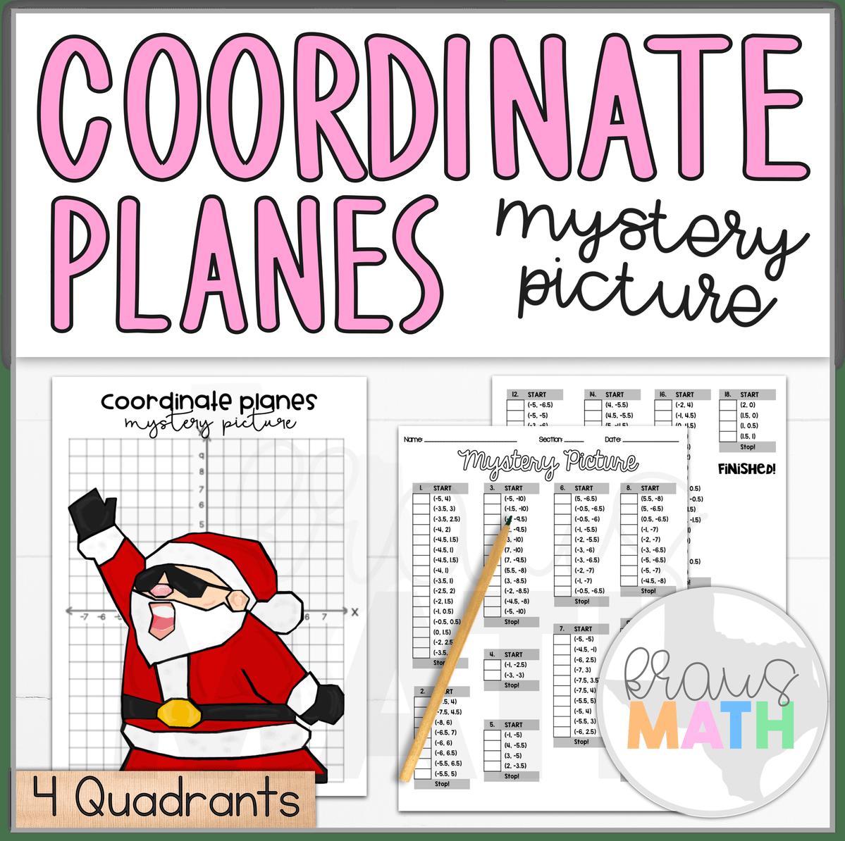 Santa Watch Me Nae Nae Coordinate Plane Activity 4