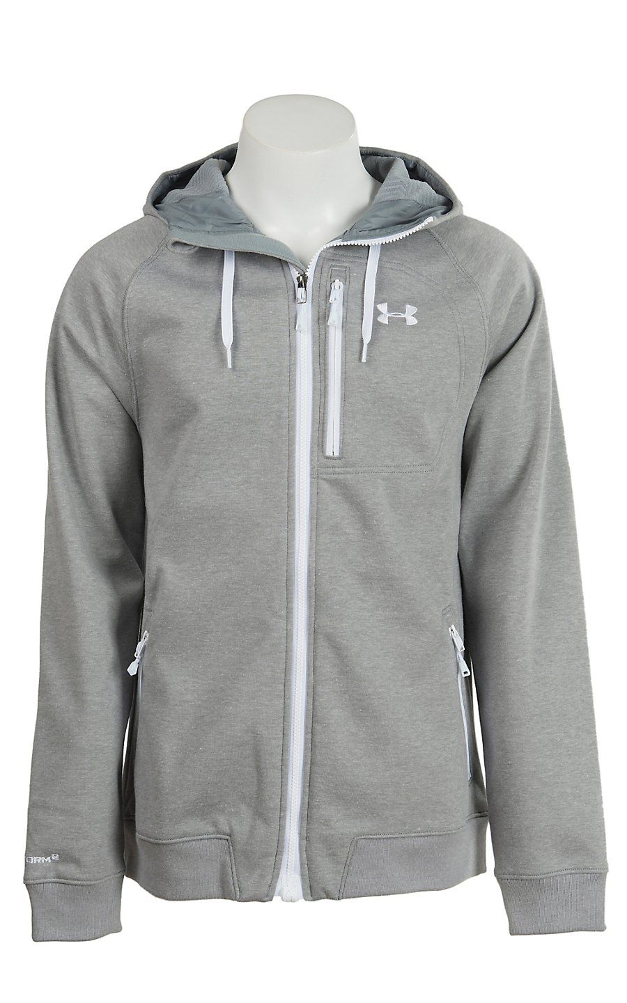 Under Armour Men s True Gray Heather UA Storm ColdGear Infrared Dobson  Softshell Jacket  73c9273545