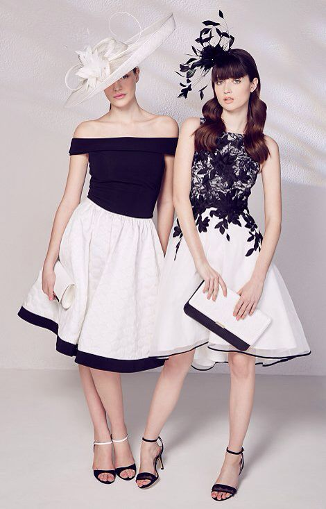 Go mad for #monochrome in our Hepburn prom from Debut (0080106361) and Lace contrast prom from Coast