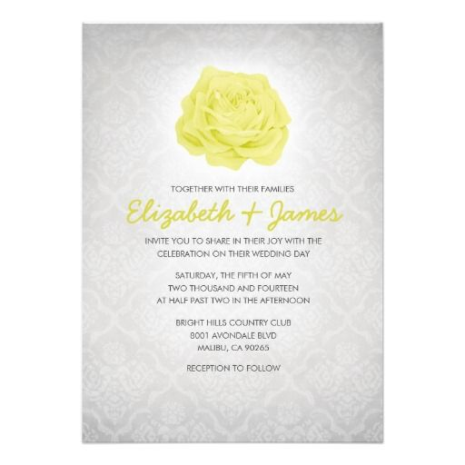 Trendy Floral White Damask Wedding Invitations White damask - best of invitation cards for wedding price