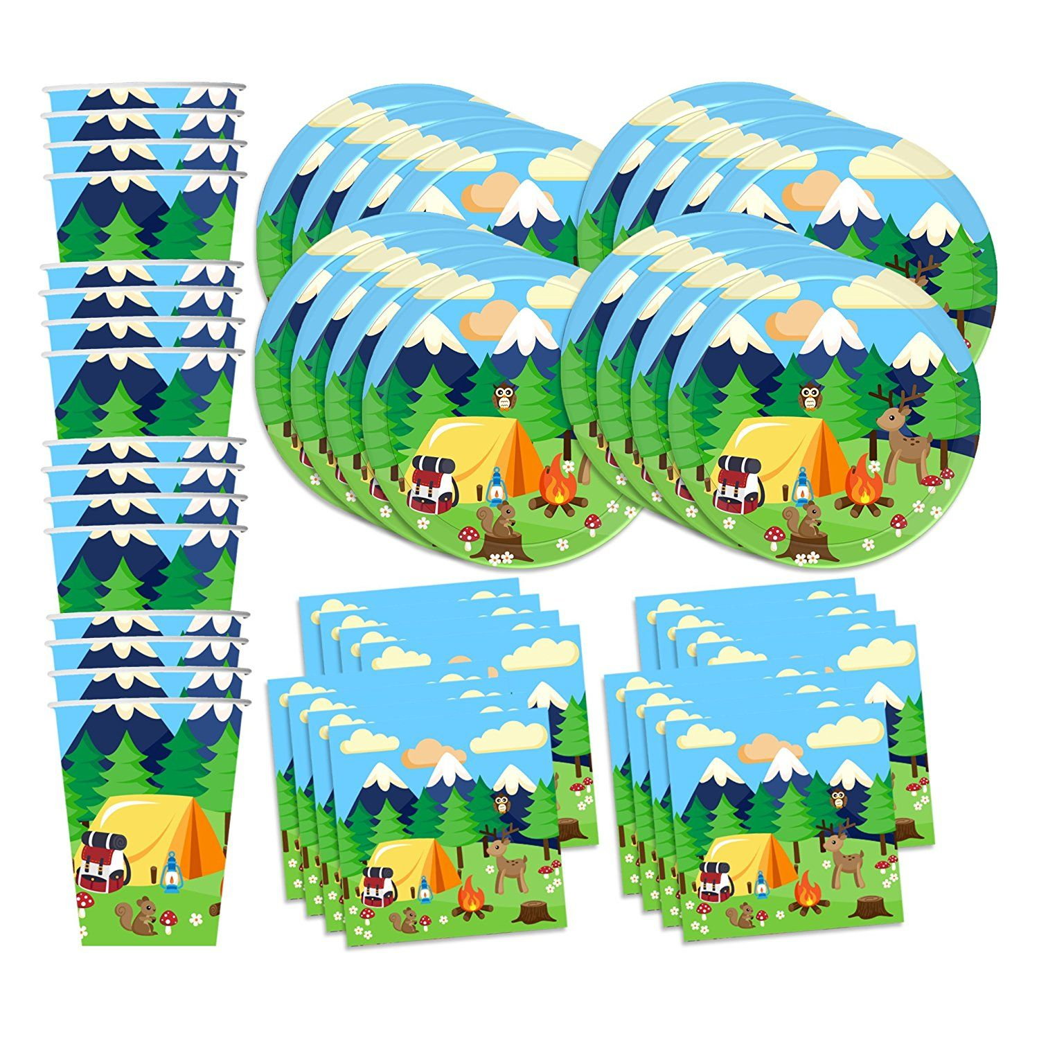 Amazoncom Camping Adventure Birthday Party Supplies Set Plates