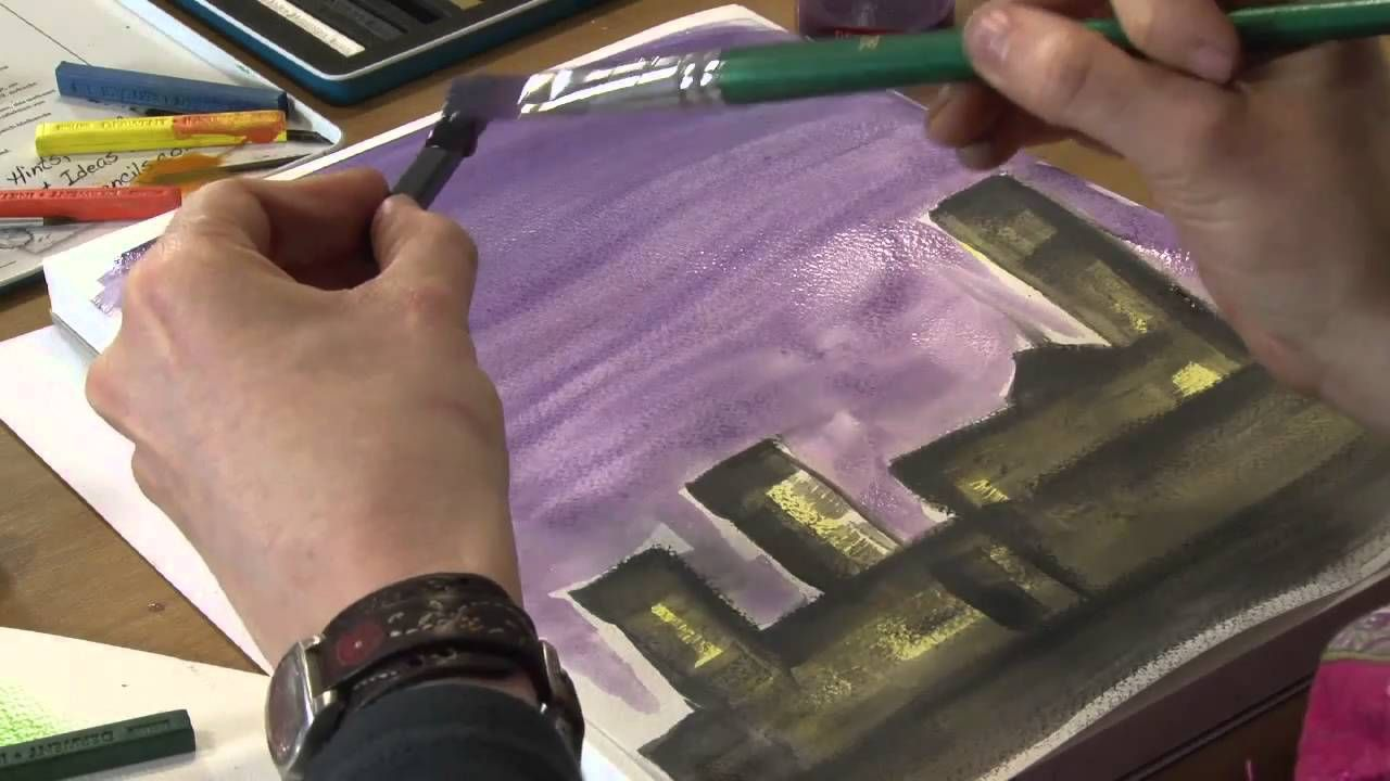How To Use Derwent Inktense Blocks Via Youtube Derwent