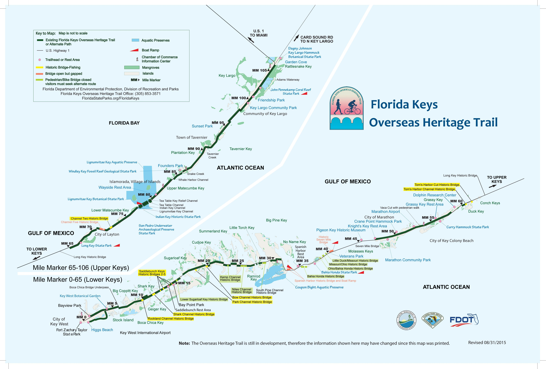 Map of Florida Keys Overseas Heritage Trail. | Florida ...