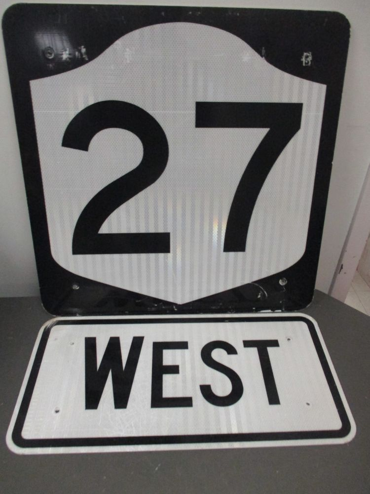 Highway Signs For Sale >> Details about New EAST road sign 24x12x3/4 wooden black & white reflective street highway sign ...