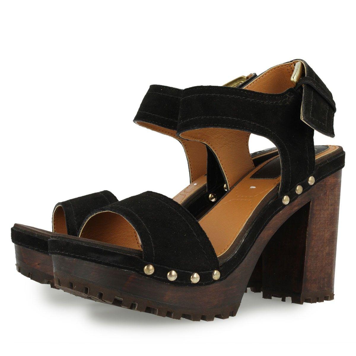 Gioseppo - Sandalias de piel Kirsten negro -Altura tacón: 12 cm Estilo de moda de descuento 28GSup4