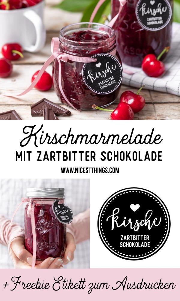Kirschmarmelade mit Schokolade Rezept