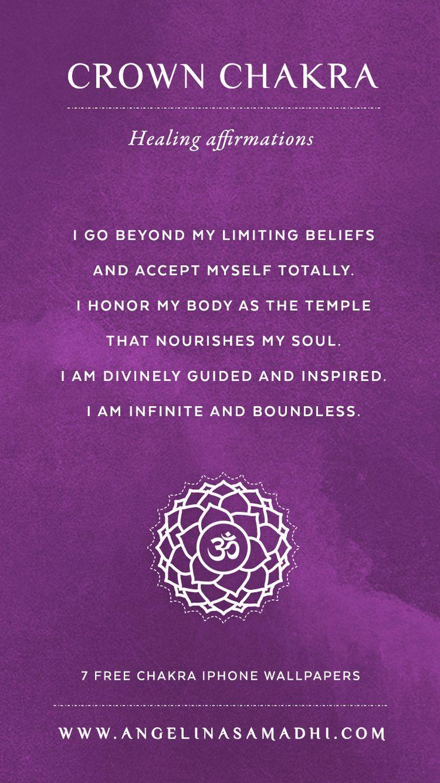 Crown Chakra Healing Affirmations – chakra affirmations ...