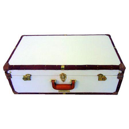 Vintage Buffalo Leather Suitcase