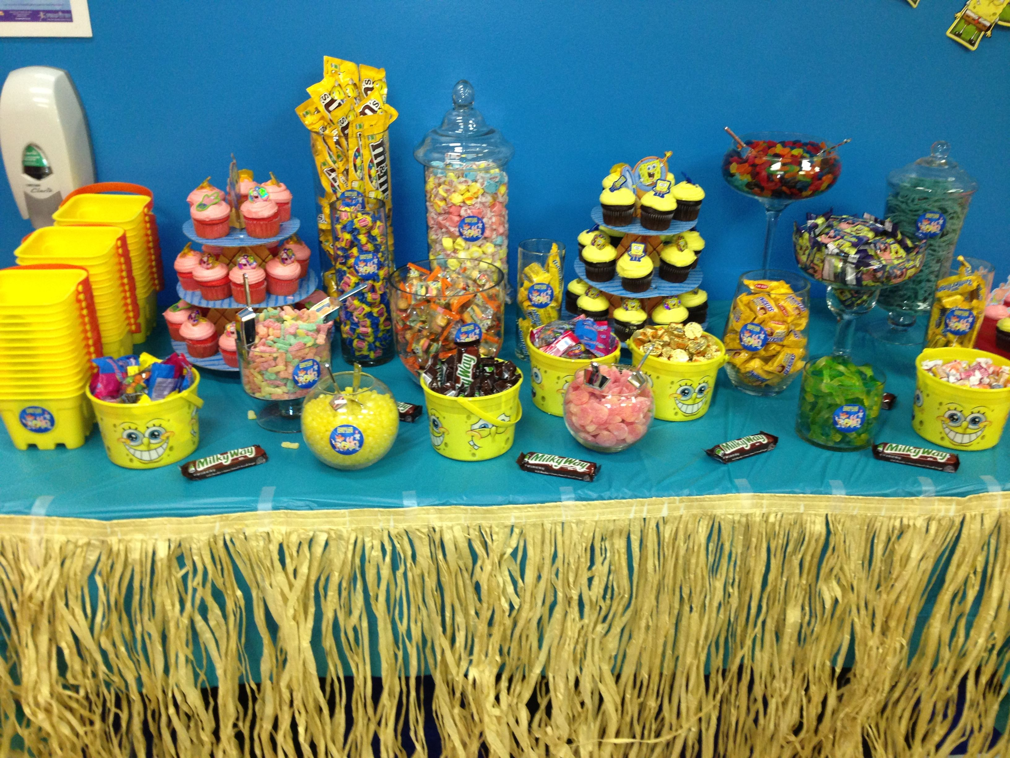 Spongebob candy table | Kids party | Pinterest | Candy table ...