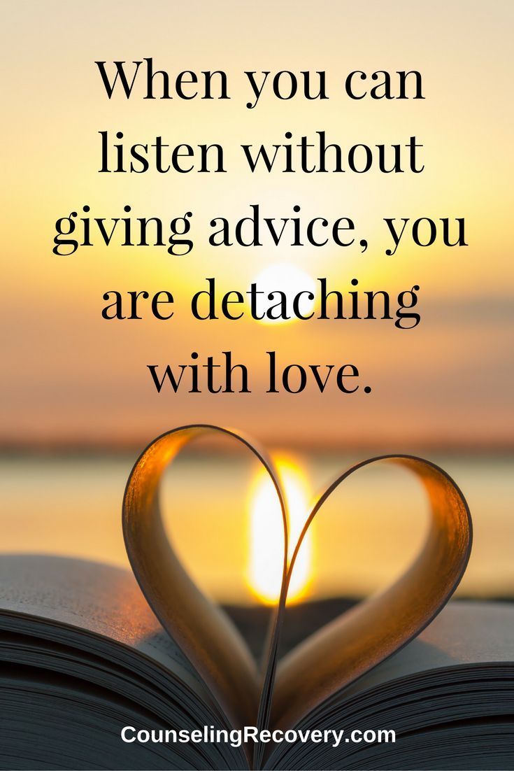 Detaching from a relationship