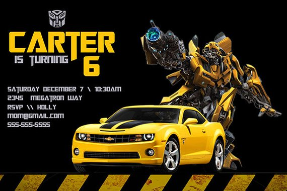 Transformers Birthday Invitation Personalized Party Invite A Digital Printable File