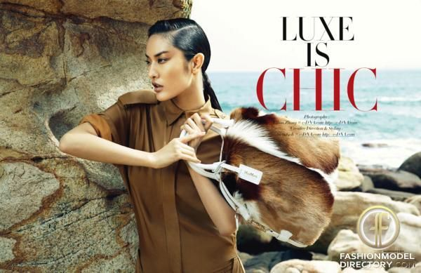 """Harper's Bazaar Hong Kong editorial """"Luxe Is Chic"""" from February 2013 , showing Max Mara"""