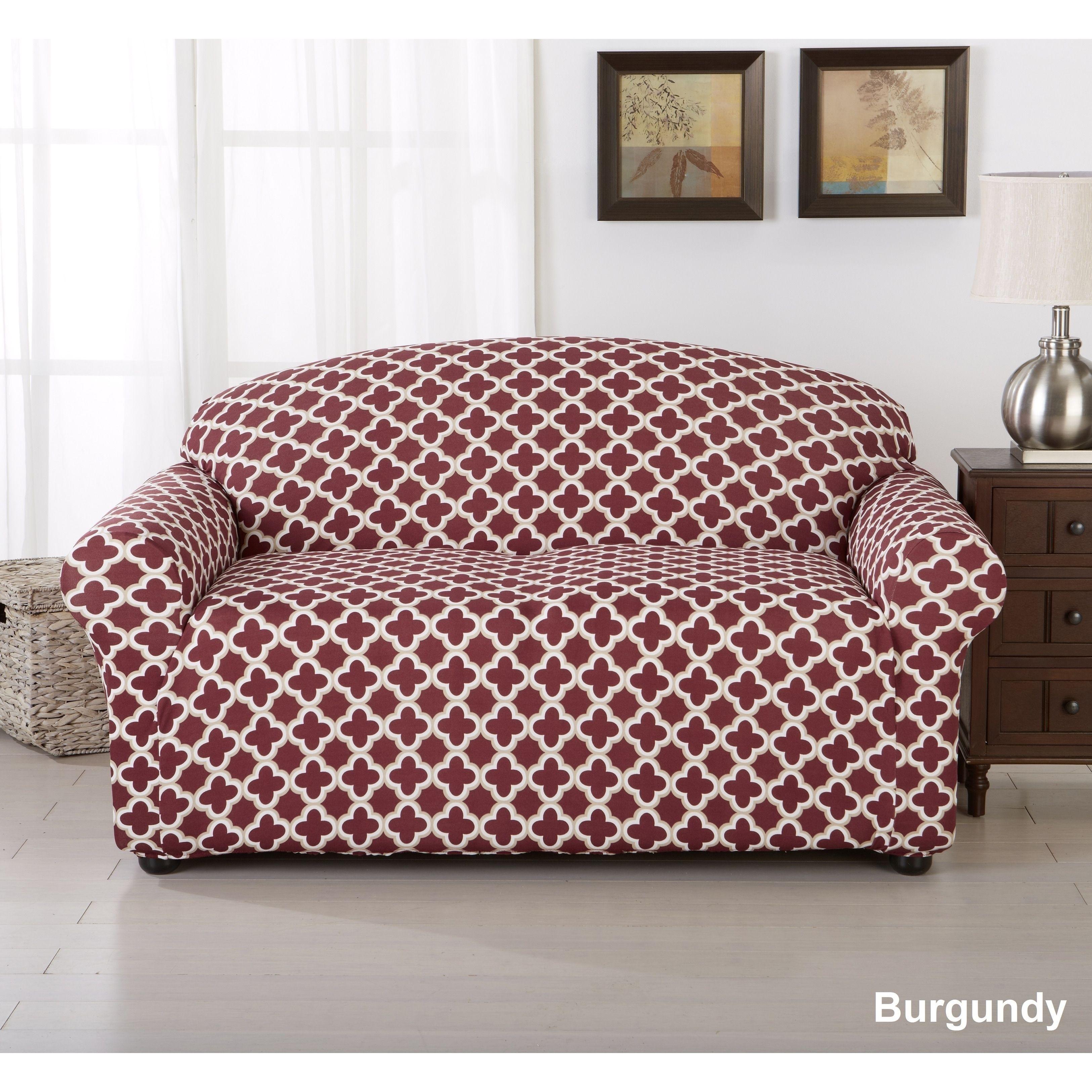 Pleasing Home Fashion Designs Brenna Collection Trellis Print Stretch Unemploymentrelief Wooden Chair Designs For Living Room Unemploymentrelieforg