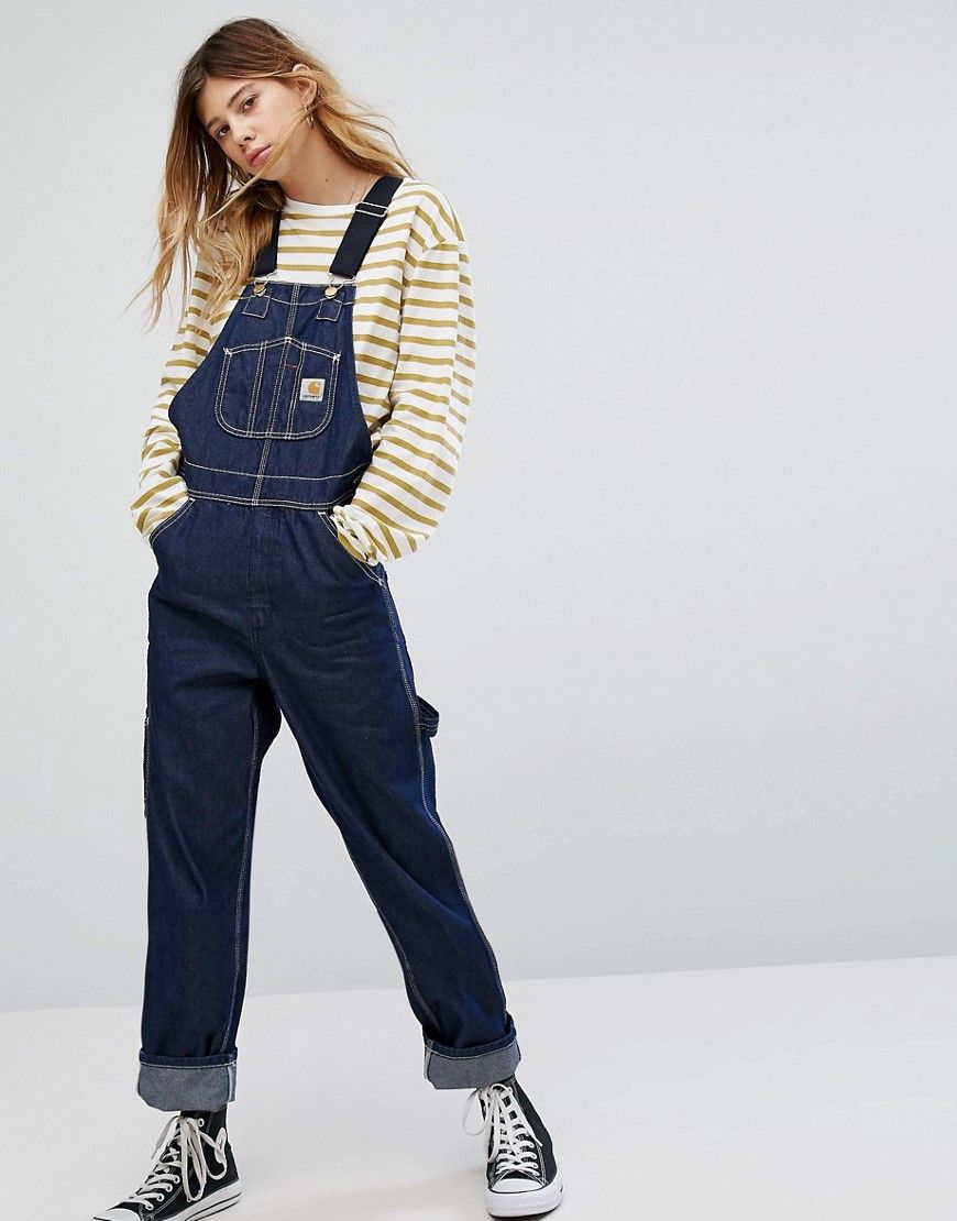 01c09ee4 CARHARTT WIP OVERSIZED OVERALLS IN DENIM WITH CONTRAST STRAPS - BLUE. # carhartt #cloth #