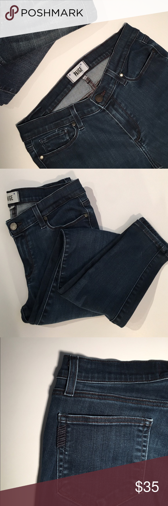 "Paige Verdugo Ultra Skinny Jeans ✔️Skinny Fit ✔️Cotton/Lyocell/Poly/Elastane Blend ✔️Super Lux Denim! ✔️29"" Inseam ✔️Excellent Condition Paige Jeans Jeans Skinny"